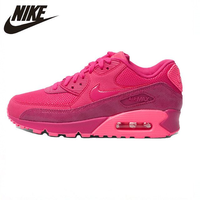 Nike New Arrival Air Max 90 PREMIUM Women Running Shoes Authentic Good  Quality Outdoor Sports Sneakers 443817-600 3fce72fb4242