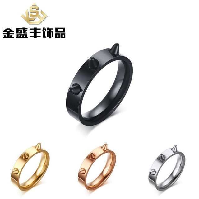 Stainless Steel Self-defense Product Self Defense Shocker Weapons Ring  Travel Kit Women Fashion Punk cb0c475f0dc3