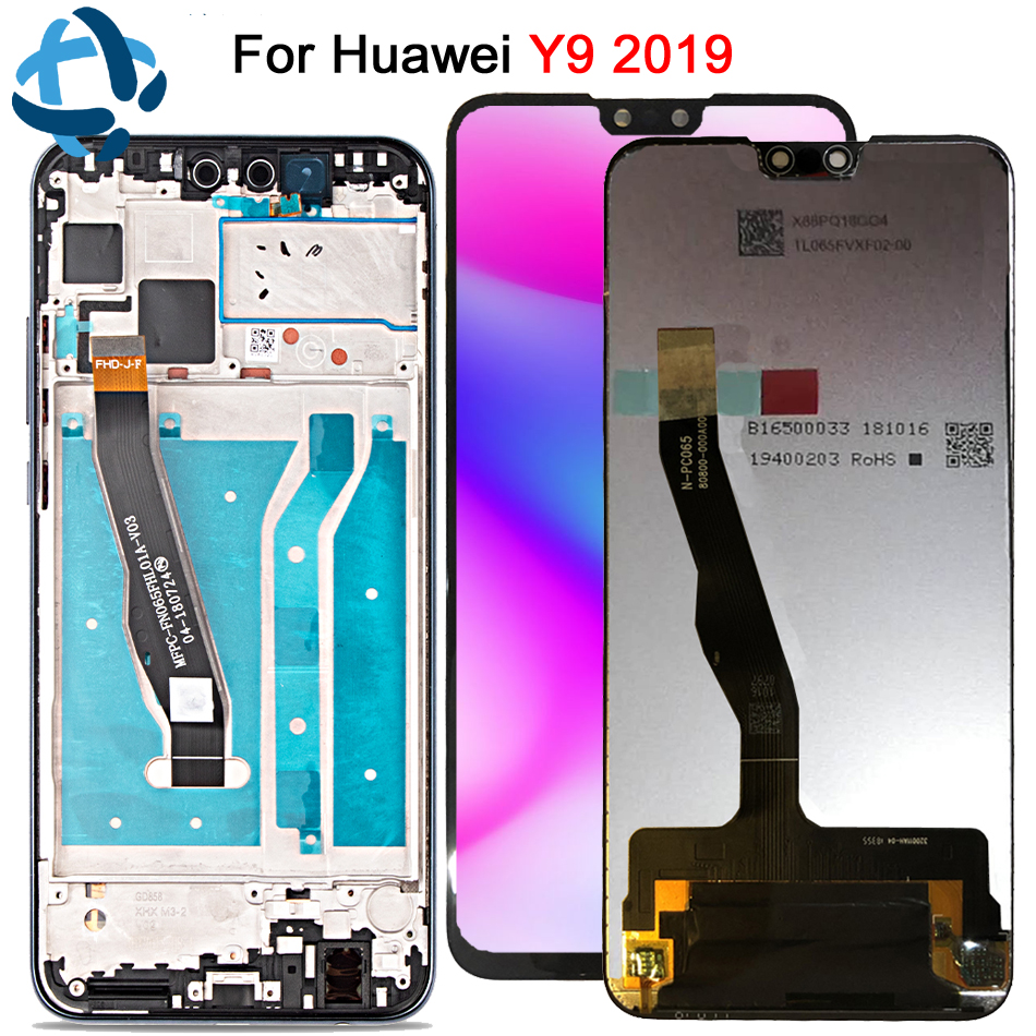 New 6 5 For Huawei Y9 2019 LCD DIsplay Touch Screen Digitizer Assembly JKM LX1 JKM