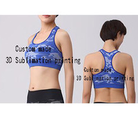 Custom Made Create Your Own Designs 3D Sublimation Print Milk Silk Fitness Workout Crop Tops Vest
