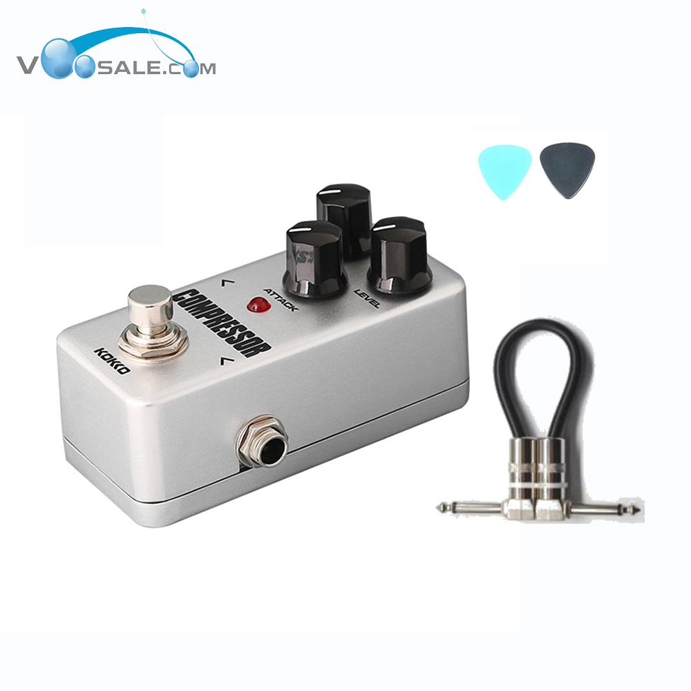 KOKKO FCP2 Mini Compressor Guitar Effect Pedal Portable High Quality with True Bypass Aluminum-alloy Guitar PedalS+Free Cable aroma adr 3 dumbler amp simulator guitar effect pedal mini single pedals with true bypass aluminium alloy guitar accessories