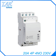 4P 4NO  230V 20A Modular Normally Closed Contactor with electric machincal types of contactor  Din rail Household ac contactor 4p 115a magnetic ac contactor 4no lc1 f115004 power contactor page 6