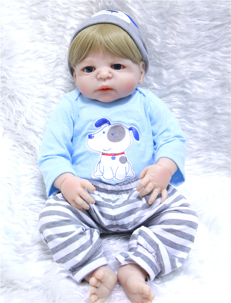 55cm Full Body Silicone Reborn Baby boy Dolls Toys realistic baby reborn dolls for children birthday gift bebe alive bonecas