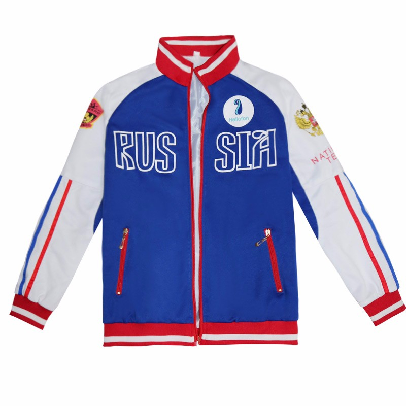 YURI!!! Classic Anime Yuri Ice Yuri Halloween Cosplay Blue Coat Wig Yuri! A Unisex Gift For Sports Jackets On Ice Sports