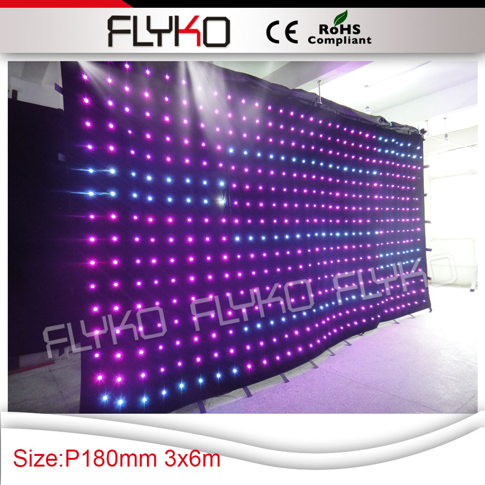Free shipping soft led video curtain xx photos