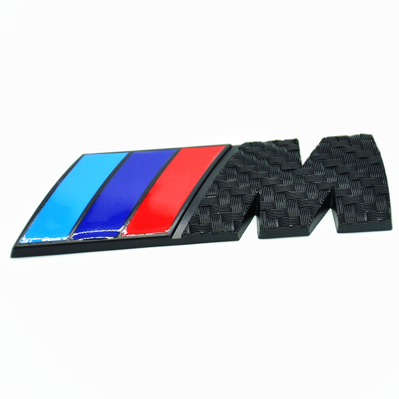 M Tech Sport Front Grill Rear Trunk Badge Carbon Look M Emblem For Bmw E36 E46 E39 E60 Z3 Z4