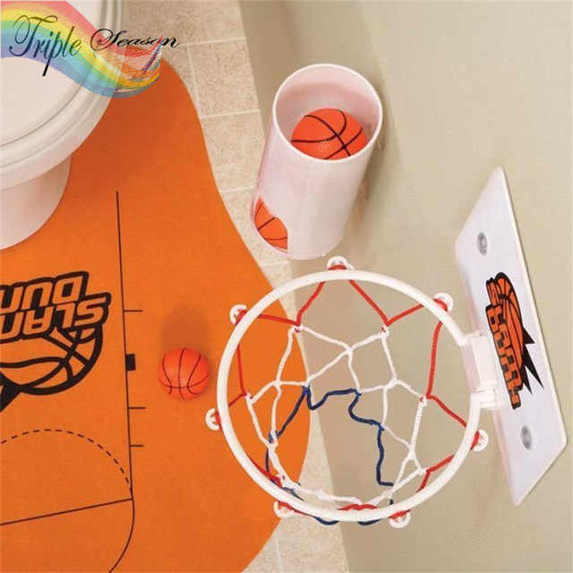 Sale 1 Set Fashion Novelty Toilet Bathroom Basketball Slam Dunk Game/ Bathroom  Accessories Sets AB0053S