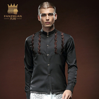 FANZHUAN Featured Brands Clothing Shirt Men Chemise Homme 2017 Fashion Mens Slim Fit Tuxedo Dress Shirts