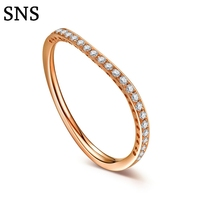 Real Diamond Engagement Band Solid 14K Rose Gold Jewelry 0.12ctw Round Shape Natural Diamond Rings For Women