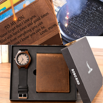 Special Gift Engraving Men Watches Wallet Family for Son DAD MOM Men's Boyfriend Quartz Women Wristwatch for Engrave Logo