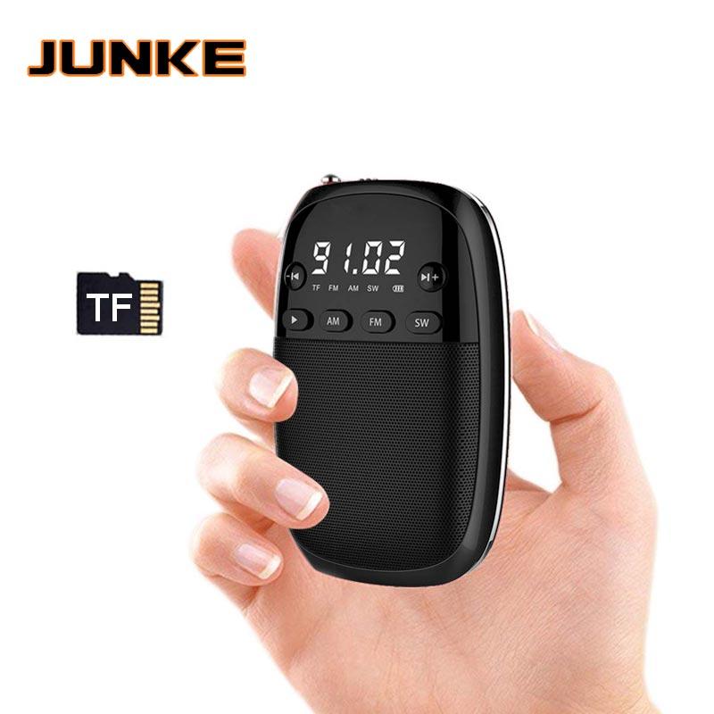 Junke Fm/am/sw Radio Empfänger Mp3 Tragbare Mini-radio Mit Akku Kopfhörer Jack Unterstützung Tf Karte Spielen Box Kann Wiederholt Umgeformt Werden. Radio Unterhaltungselektronik