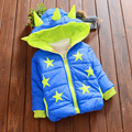 Kids Vestido Infantil Boys Winter Coat 2016 New Warm Children Jackets Stars Printed Infant Clothing Baby Girl Hooded Overcoat
