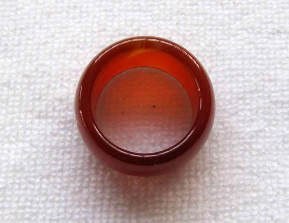 ใหม่สีแดงธรรมชาตินิลหยกมือแกะสลักแหวนวงขนาด9.5 #-10.5 #การจัดส่งสินค้าได้อย่างรวดเร็ว