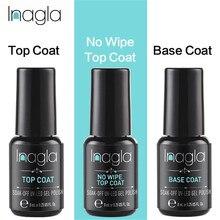 Inagla Base and Top Coat Gel Nail Polish UV 8ml Transparent Soak Off Primer Lacquer Art Manicure
