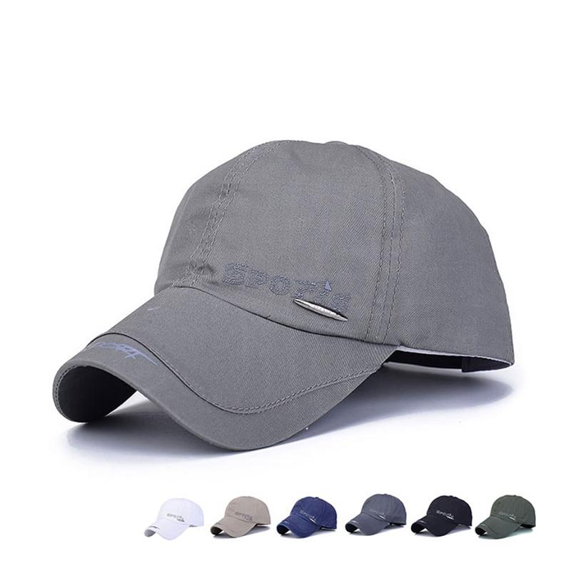 Baseball Cap Men s Adjustable Cap Casual Summer Sun Hats Solid Color  Embroidery Letter Sports Fashion Snapback Bone Cap Dad Hat d47cf4831c1