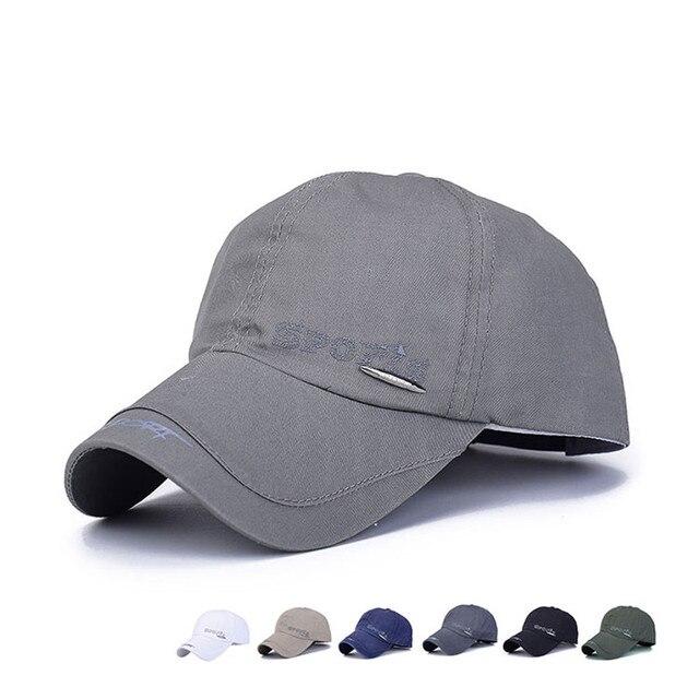 Los hombres de la gorra de béisbol casquillo ajustable ocasional del sol  del verano sombreros Color 20262ee6af5