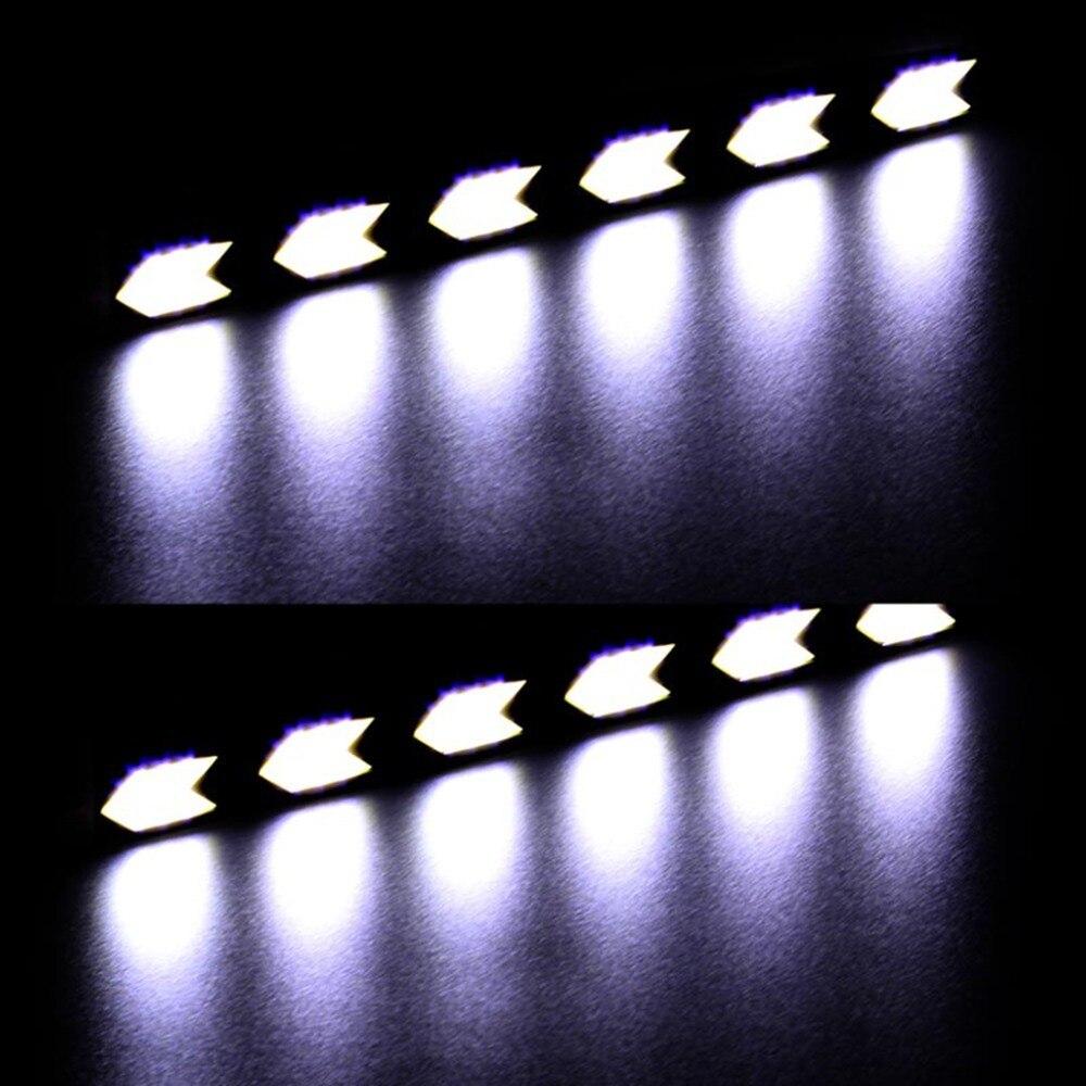 2017 светодиод cob автомобиля DRL дневного света вождения Лампа Водонепроницаемый стрелка из светодиодов авто свет груза падения
