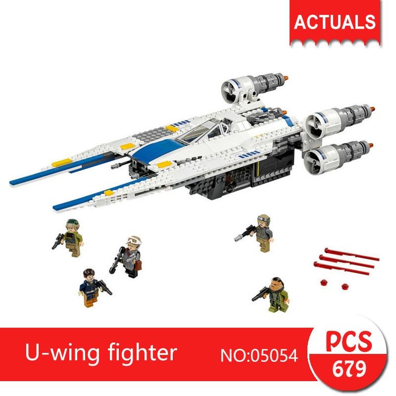 Lepin 05054 679Pcs U-wing fighter  Model Building Blocks Set  Bricks Toys For Children Gift 75155  Action figures