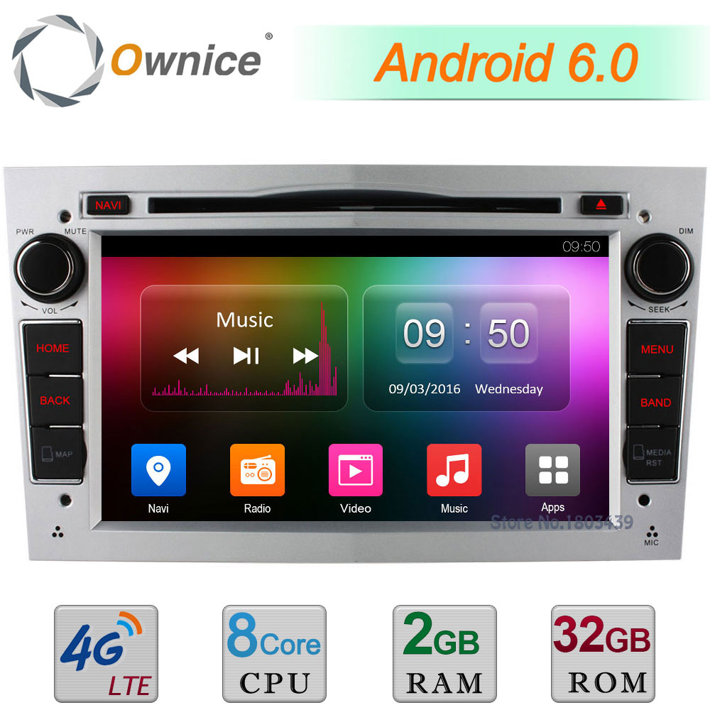 2GB+32GB 4G WIFI Android 6.0 Octa Core DAB Car DVD Player Radio For Opel Tigra Astra Vectra Corsa Zafira Vivaro Meriva Antara
