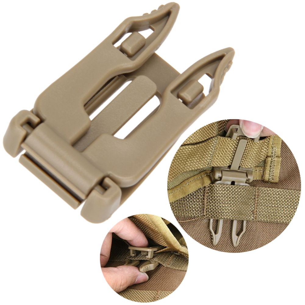 5pcs/lot Backpack Carabiner Tactical Buckle Clip Strap EDC Molle Webbing Connecting Buckles Clip Quick Slip Keeper