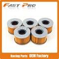 5 x limpeza do filtro de óleo para honda cbx400 cm400 cx400 cb450 CM450 CMX450 CX500 GL500 GL650 CBX550 CX650 Lado X Lado MUV700 SXS700