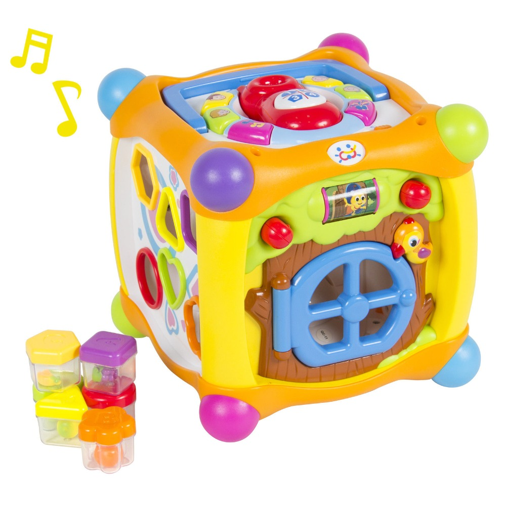 Talking Activity Cube Box Play Center with Lights, Music ...