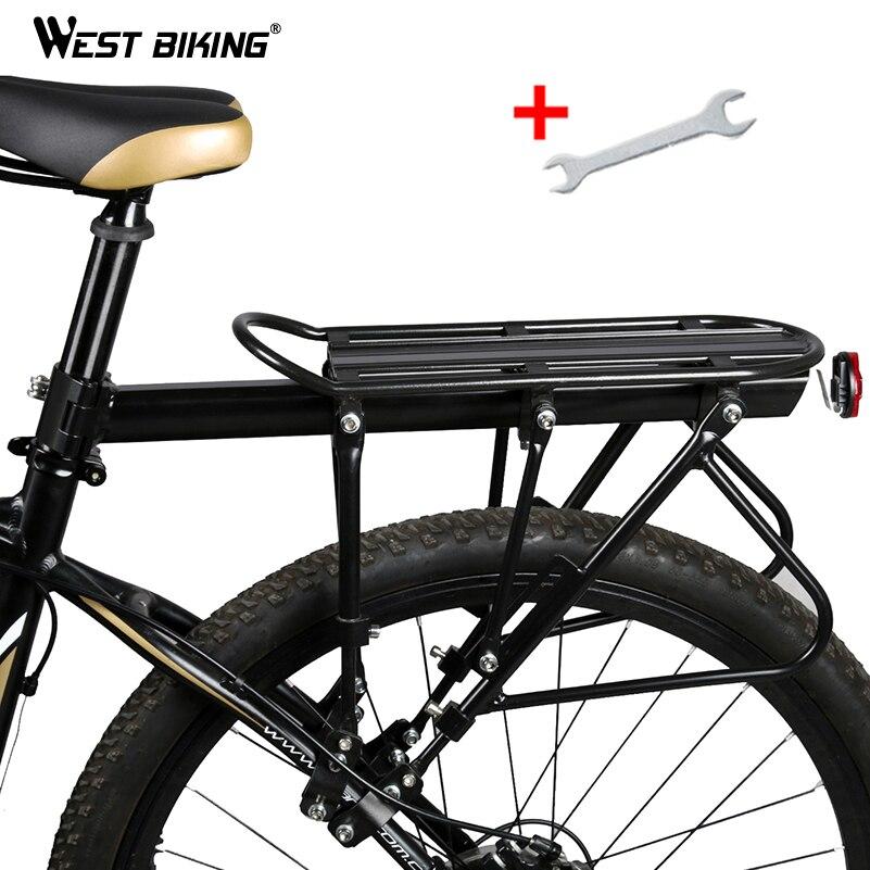 WEST BIKING Bicicleta Racks de 140 KG de Carga Bagagem Transportadora de Carga Suporte do Saco de Liga de alumínio Traseiro Rack De Bicicleta Selim Bicicleta Estande Rack