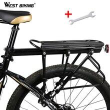WEST Bike Bicicletta Rastrelliere 140 KG di Carico Dei Bagagli Carico In Lega di Alluminio Cremagliera della Parte Posteriore Ciclismo Reggisella Sacchetto Del Supporto Del Basamento Della Bici cremagliera