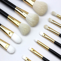 Yansh Professional Goat Hair Makeup Brushes 12pcs Make Up Brushes Set Foundation Powder Eyeshadow Makeup Brush
