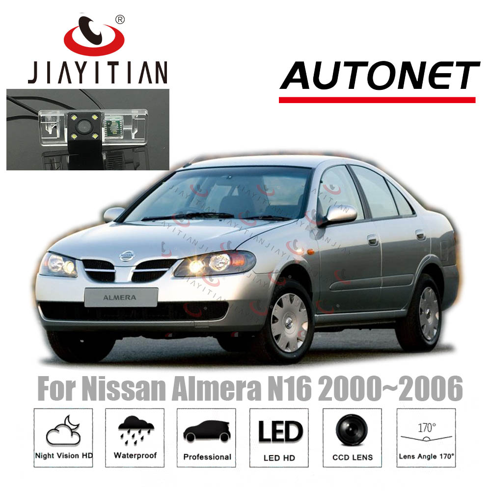 JIAYITIAN Car Rear View Camera For Nissan Almera N16 2000~2006 3D 4D 5D/backup Camera/Reverse Camera/License Plate Camera CCD