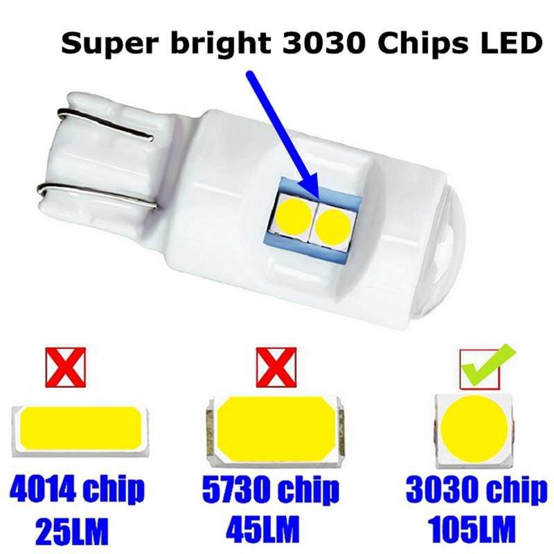 T10 W5W WY5W керамический монолитный светодиодный блок Автомобильный Клин источник освещения салона инструмент боковая лампа номерного знака Лампа Белый синий зеленый красный желтый
