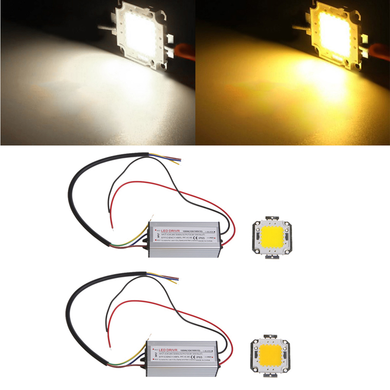 High Power 100W LED SMD Chip Bulb With Waterproof Driver Supply DC 20-24V