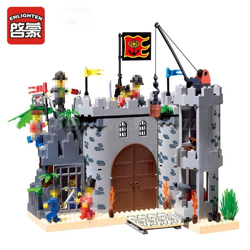 ENLIGHTEN 310 Pirate Rob Barrack Castle Figure Building Blocks Set 7 Figures 366pcs Bricks Toys Kids Christmas Gifts bmbe табурет pirate