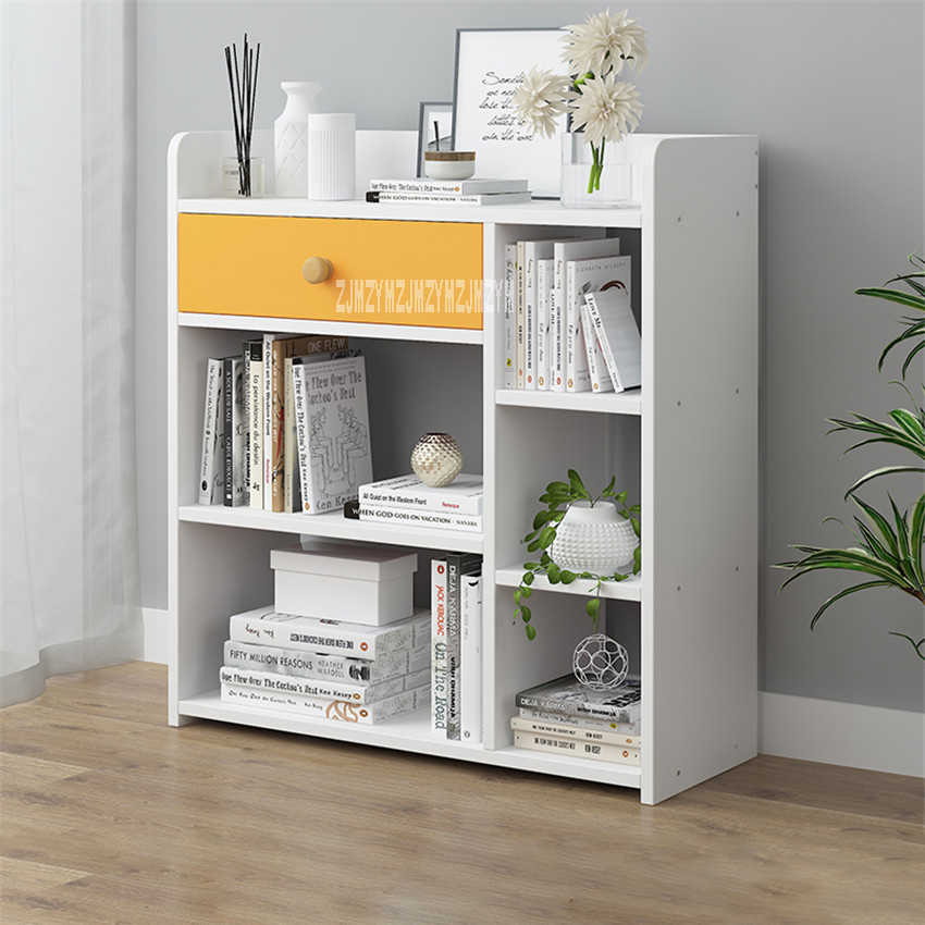 D4417 Modern Simple Bookshelf Multifunctional Bedroom Wooden Bookcase Creative Economical Multi Layer Book Cabinet With Drawer Bookcases Aliexpress
