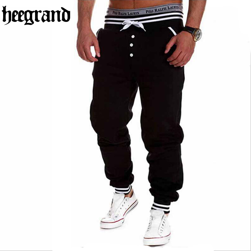 HEE GRAND 2018 Men Casual Pants Fashion Hip Hop Style Pants Drawstring Trousers Sweatpants Pantalones MKY125