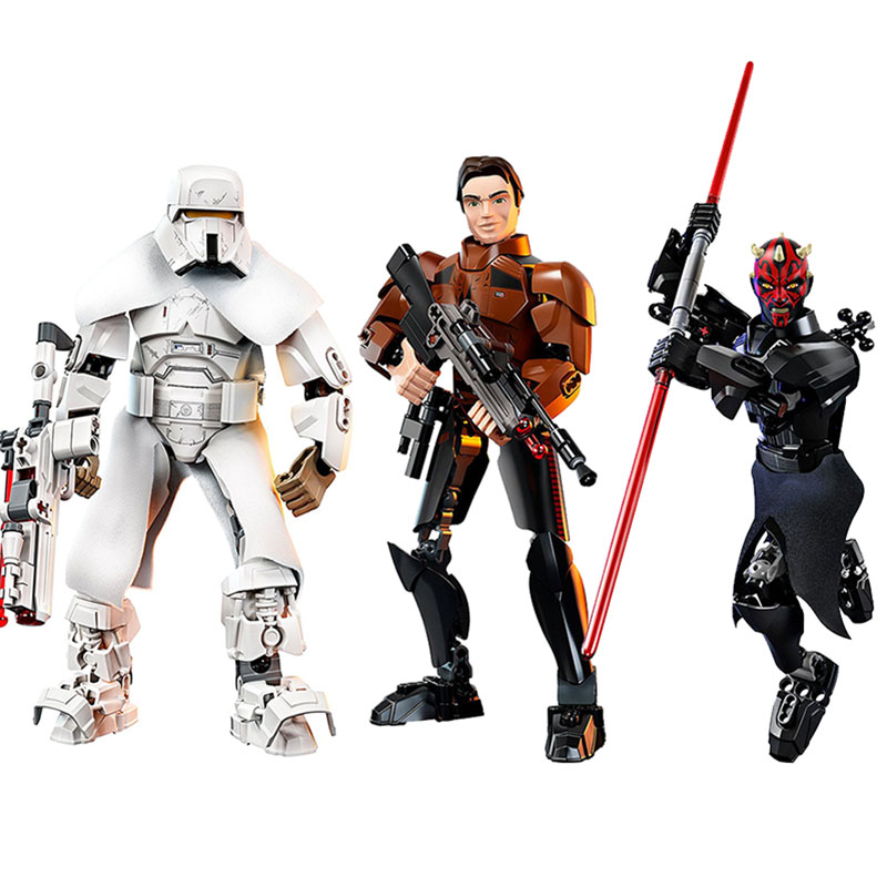 Star wars assembly action figures plastic buildable star wars figures 26 styles can be choose Solo A Star Wars Story movie toys футболка классическая printio r2 d2 star wars
