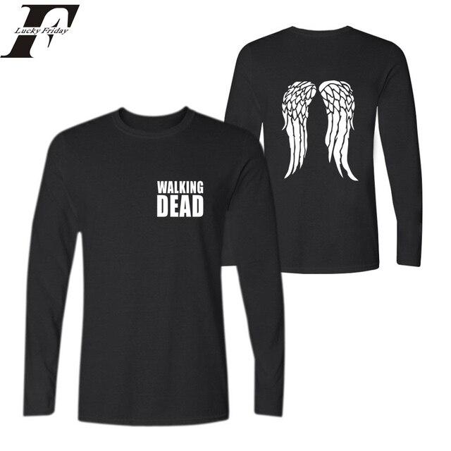 40cd18b5 2017 harajuku The Walking Dead Plus Size Funny T Shirts Cotton fitness T-shirt  men Women tumblr Long Sleeve plus Size XXS To 4XL