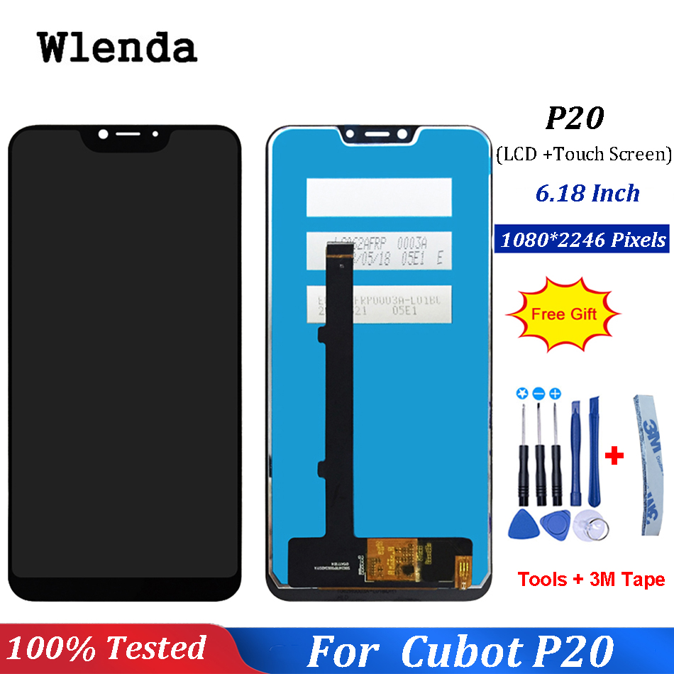 For Cubot P20 LCD Display and Touch Screen Digitizer 6.18 inch Mobile Phone Accessories For Cubot P20 With Tools