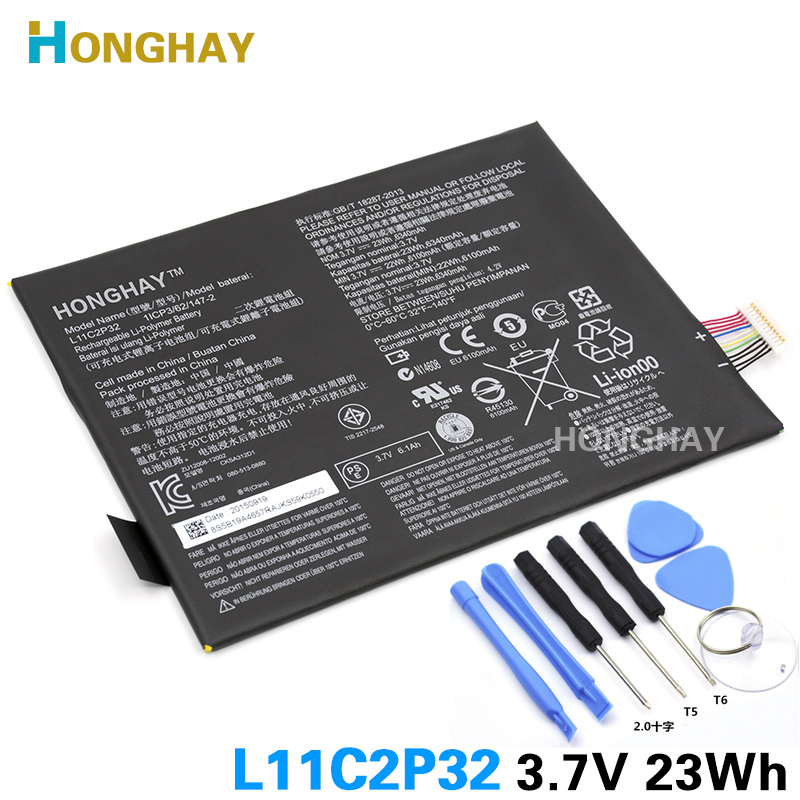 Honghay L11C2P32 L12D2P32 Tablet battery For LENOVO IdeaPad S600H S6000 S6000-F S6000-H A7600 A7600-H A7600-F A10-80 A10-80HC PC аксессуар защитная пленка lenovo ideatab a7600 a10 interstep ultra ультрапрозрачная la7600ucl 37813