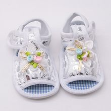 2018 summer cute baby girl princess shoes big bow first walker soft anti-skid child crib beibei shoes(China)