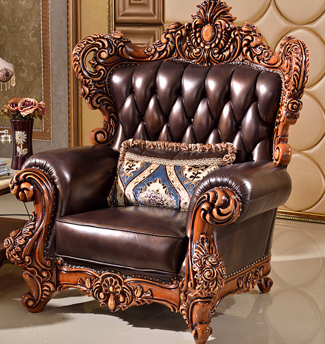 ... European Luxury Wood Funiture Living Room Sofa Set Modern Leather Sofa  Foshan Hh926 ...