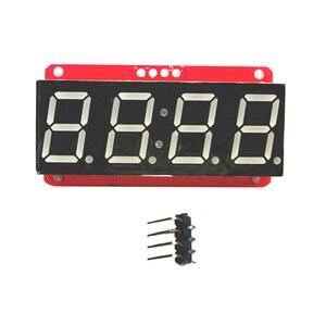 Image 5 - 4 ספרות 7 קטע 0.56 תצוגת LED צינור עשרונית 7 מגזרים HT16K33 I2C שעון כפול נקודות מודול עבור