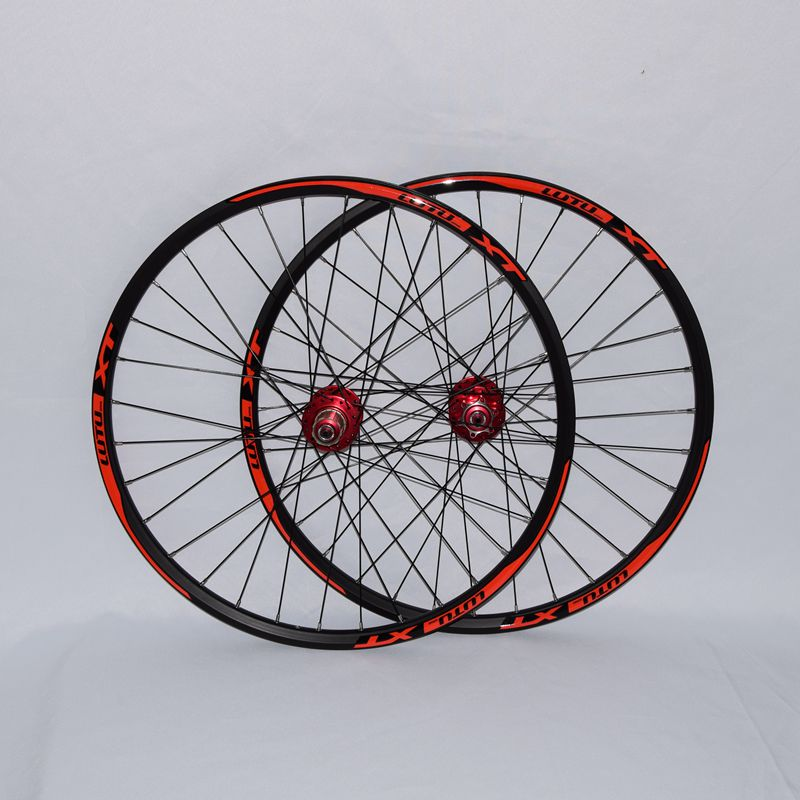 2018 hot sale l01 MTB mountain bike bicycle 4 sealed bearings wheels double rim wheelset rims cool price 2015 rt a3 carbon wrapped hub 26 inch light weight aluminum alloy flat mtb mountain bike wheelset 5 sealed bearings