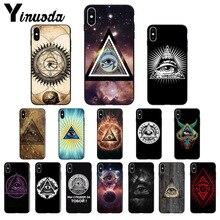 Yinuoda ojo de la Providencia TPU accesorios de teléfono suave funda para iPhone x XS MAX 6 6s 7 7plus 8 8Plus 5 5S SE XR