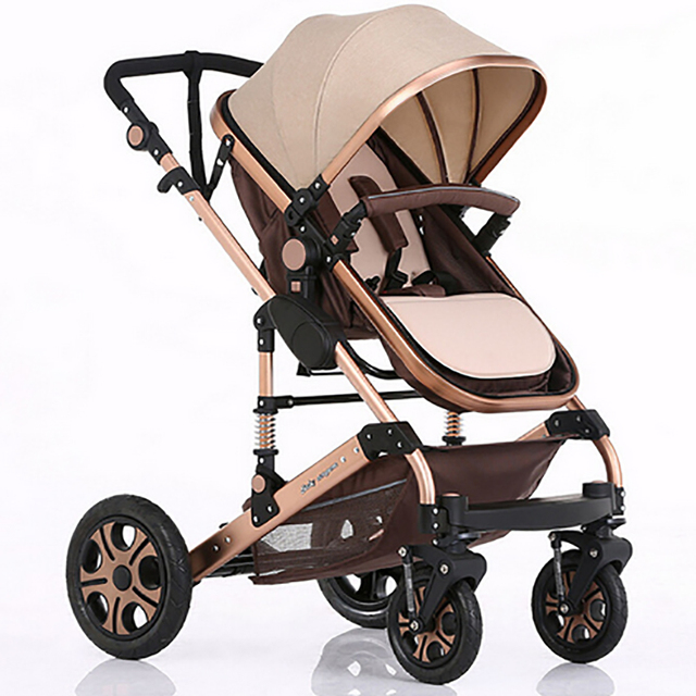 2016 Rushed New 0-4 Years Old Metal Aluminnium Baby Stroller Light Big European Sleeping Carraige 0~36 Months Use 24 Colors