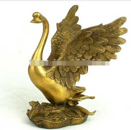 SUIRONG---326 + + + Медь лебедь Гусь украшения ремесла мебель отправили домой мода любовника