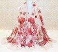 2015 женщин мода, Розы шарф, Мусульманин глушитель, Обернуть голову, Цветочные хиджаб, Desigual, Шали и шарфы, Мыс