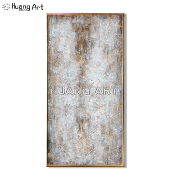 Artist Hand-painted High Quality White Color Oil Painting for Living Room Decor Wall Art Modern Brownness Abstract Oil Painting