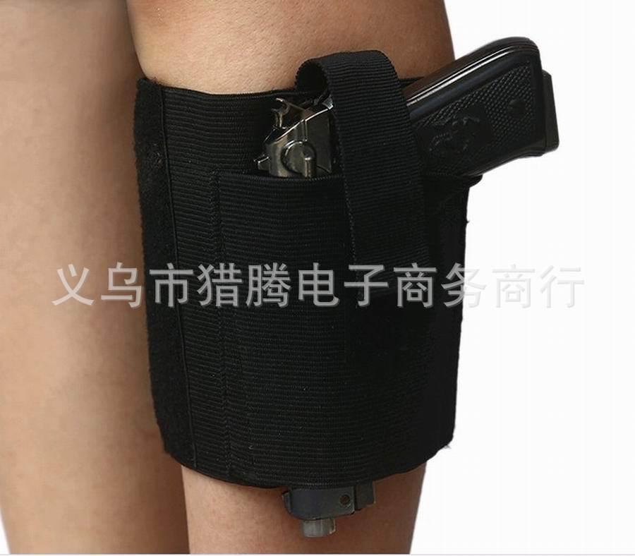 Регулируемый черный скрытые лодыжки кобура с сохранением ремешок для переноса Пистолет падения нога кобура жгут Gun Чехол