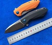 LEMIFSHE ZT 0456 タクティカルフォールディングナイフ G10 ハンドル D2 刃ベアリングフリッパー狩猟ナイフポケットキャンプサバイバル EDC ツール